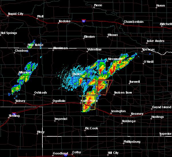 Radar Image for Severe Thunderstorms near Maxwell, NE at 6/8/2020 6:59 PM CDT