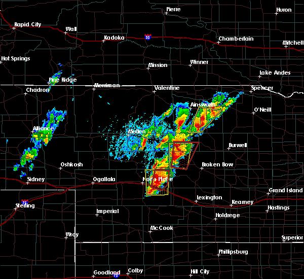 Radar Image for Severe Thunderstorms near Maxwell, NE at 6/8/2020 7:07 PM CDT