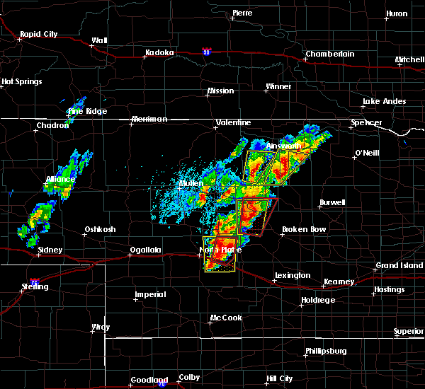 Radar Image for Severe Thunderstorms near Ainsworth, NE at 6/8/2020 7:11 PM CDT