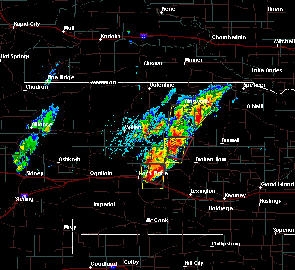 Radar Image for Severe Thunderstorms near Maxwell, NE at 6/8/2020 7:25 PM CDT