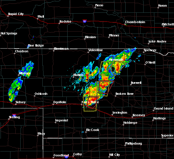 Radar Image for Severe Thunderstorms near Brownlee, NE at 6/8/2020 7:31 PM CDT