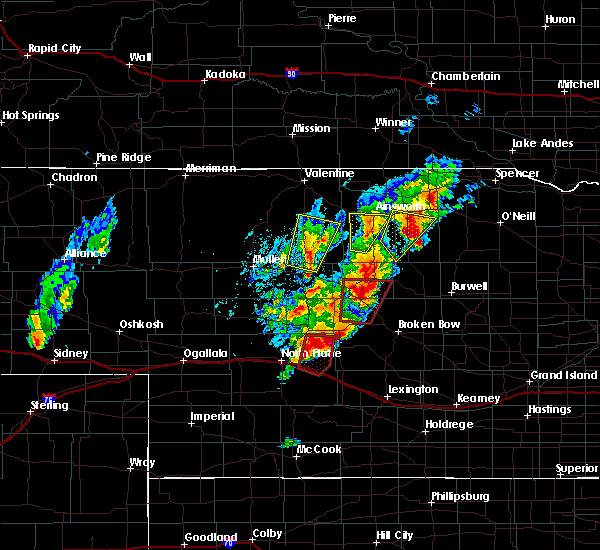 Radar Image for Severe Thunderstorms near Arnold, NE at 6/8/2020 7:45 PM CDT