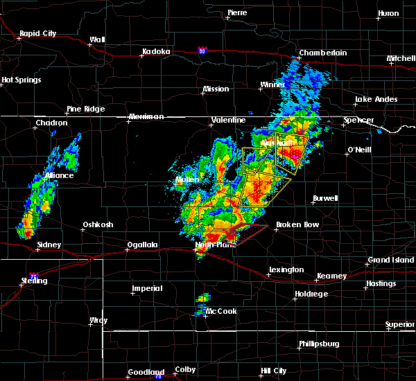 Radar Image for Severe Thunderstorms near Ainsworth, NE at 6/8/2020 7:53 PM CDT