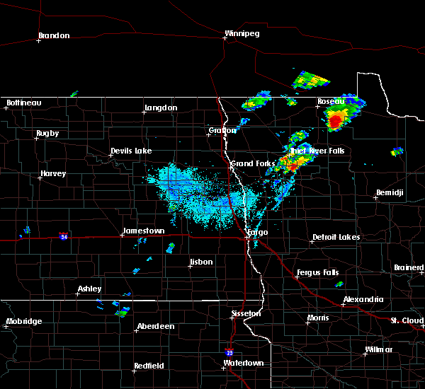 Radar Image for Severe Thunderstorms near Warroad, MN at 6/8/2020 8:21 PM CDT