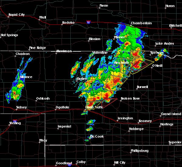 Radar Image for Severe Thunderstorms near Anselmo, NE at 6/8/2020 8:24 PM CDT