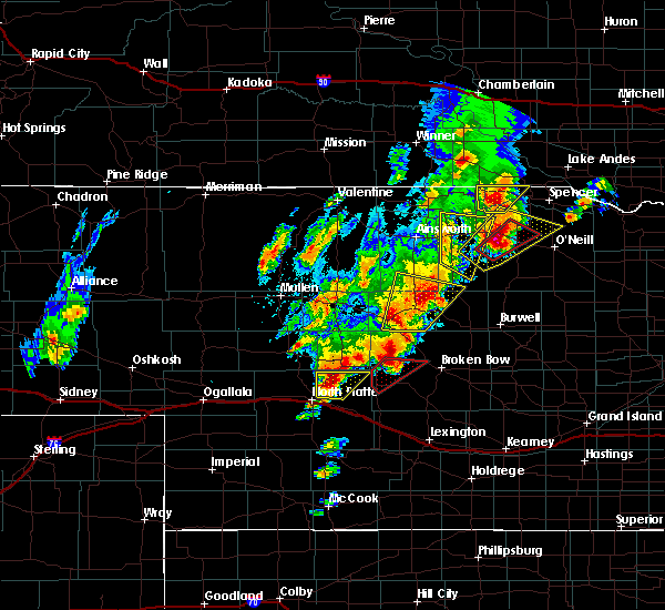 Radar Image for Severe Thunderstorms near Atkinson, NE at 6/8/2020 8:25 PM CDT