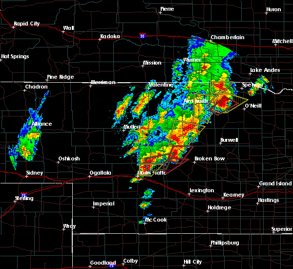 Radar Image for Severe Thunderstorms near Atkinson, NE at 6/8/2020 8:32 PM CDT
