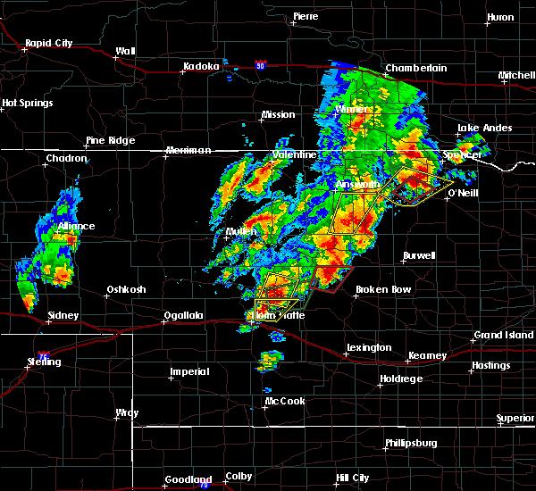 Radar Image for Severe Thunderstorms near Anselmo, NE at 6/8/2020 8:42 PM CDT