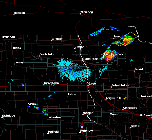 Radar Image for Severe Thunderstorms near Warroad, MN at 6/8/2020 8:42 PM CDT