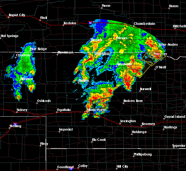 Radar Image for Severe Thunderstorms near Atkinson, NE at 6/8/2020 9:26 PM CDT