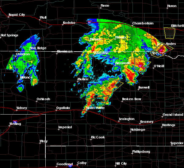 Radar Image for Severe Thunderstorms near Atkinson, NE at 6/8/2020 9:47 PM CDT