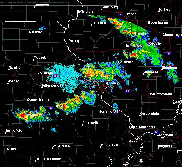 Radar Image for Severe Thunderstorms near St. Peters, MO at 6/28/2015 7:47 PM CDT