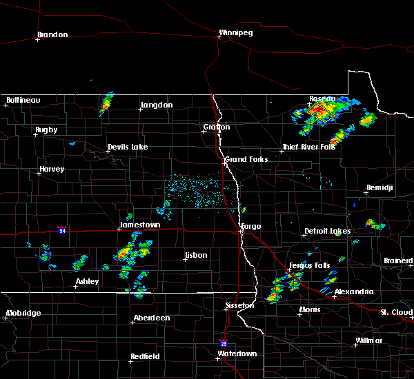 Radar Image for Severe Thunderstorms near Warroad, MN at 6/8/2020 9:55 PM CDT