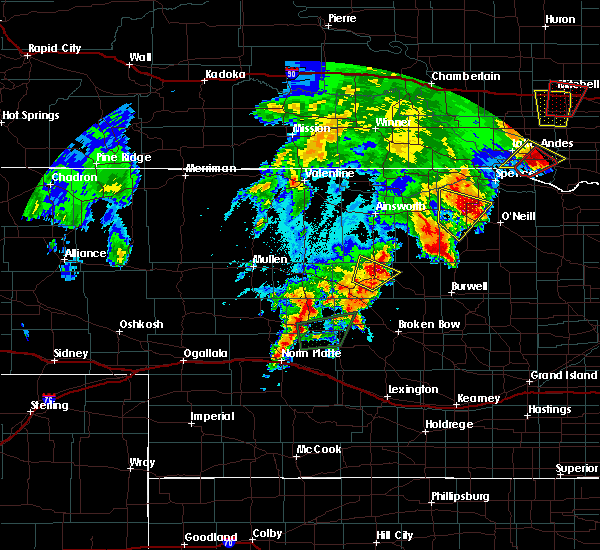 Radar Image for Severe Thunderstorms near Atkinson, NE at 6/8/2020 10:00 PM CDT