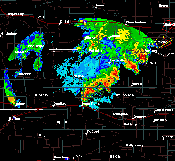 Radar Image for Severe Thunderstorms near Atkinson, NE at 6/8/2020 10:23 PM CDT