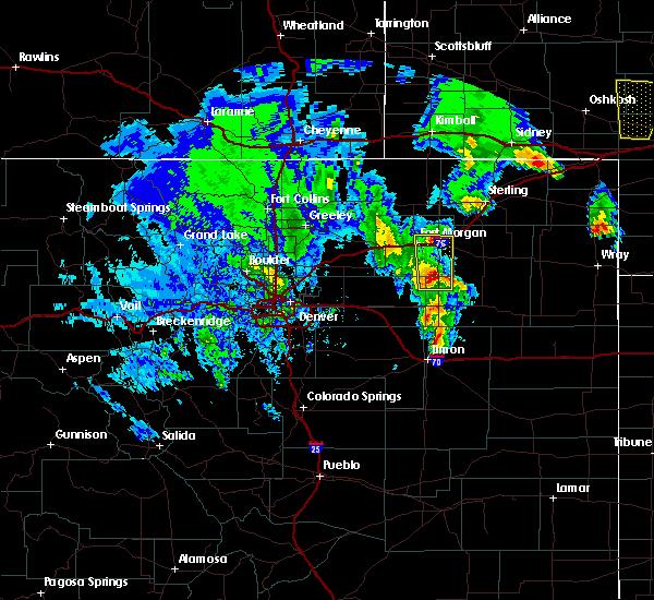 Radar Image for Severe Thunderstorms near Snyder, CO at 6/8/2020 11:49 PM MDT