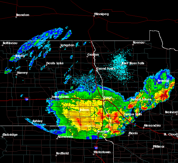 Radar Image for Severe Thunderstorms near Kent, MN at 6/9/2020 2:08 AM CDT