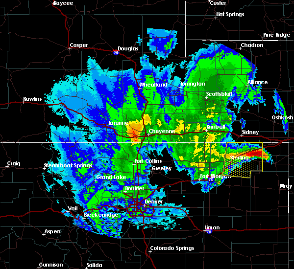 Radar Image for Severe Thunderstorms near Padroni, CO at 6/9/2020 1:19 AM MDT