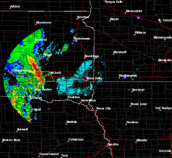 Radar Image for Severe Thunderstorms near Mitchell, SD at 6/9/2020 5:59 AM CDT
