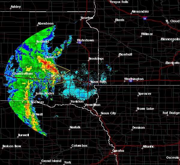 Radar Image for Severe Thunderstorms near Fedora, SD at 6/9/2020 6:46 AM CDT