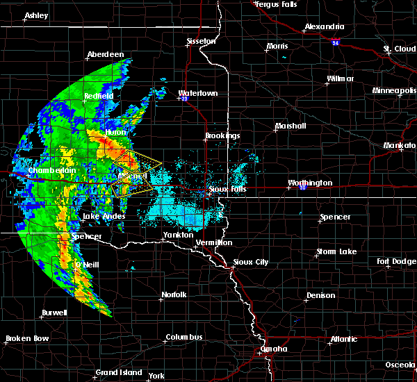 Radar Image for Severe Thunderstorms near Fedora, SD at 6/9/2020 6:55 AM CDT