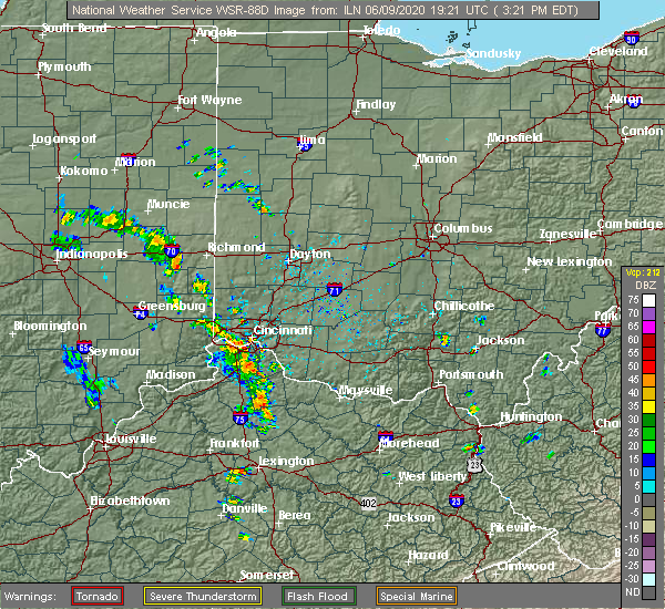 Radar Image for Severe Thunderstorms near Cleves, OH at 6/9/2020 3:24 PM EDT