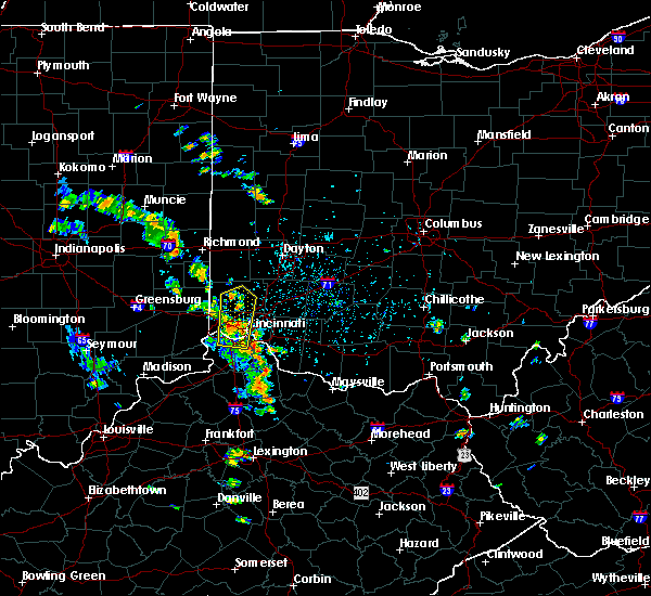 Radar Image for Severe Thunderstorms near Cleves, OH at 6/9/2020 3:34 PM EDT