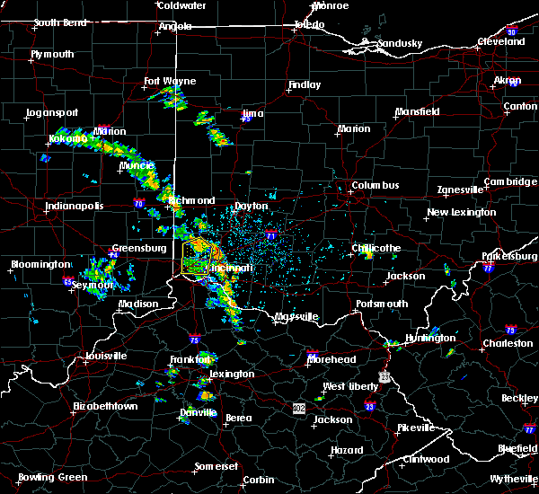 Radar Image for Severe Thunderstorms near Cleves, OH at 6/9/2020 3:58 PM EDT