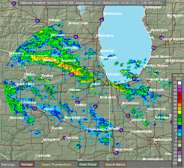 Radar Image for Severe Thunderstorms near Evanston, IL at 6/9/2020 3:04 PM CDT