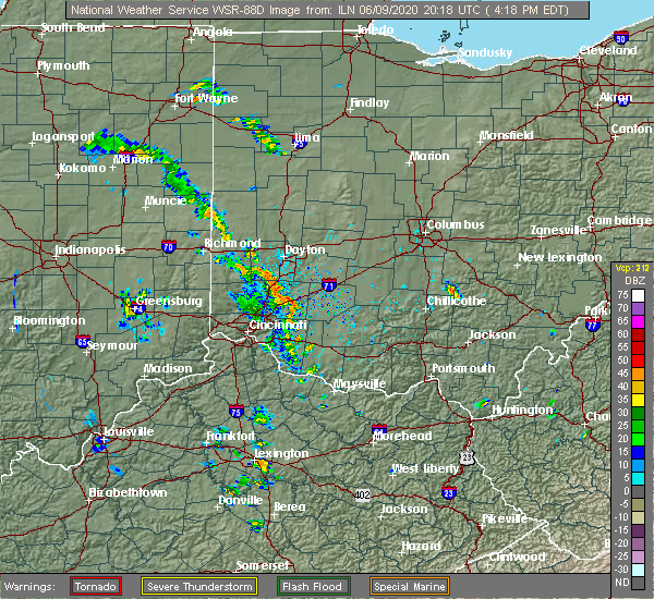 Radar Image for Severe Thunderstorms near Englewood, OH at 6/9/2020 4:23 PM EDT