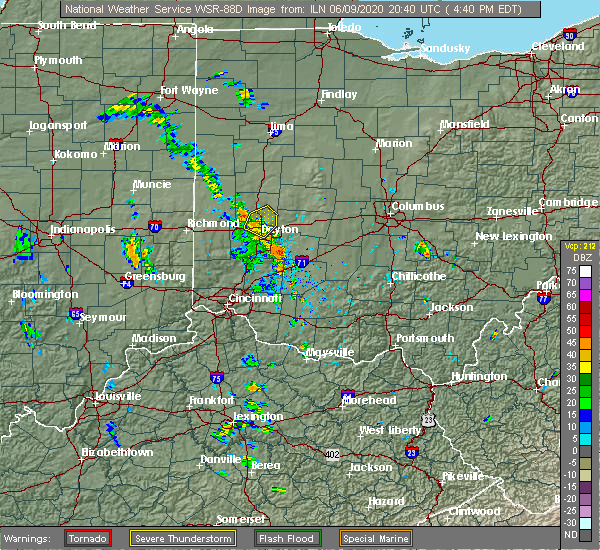 Radar Image for Severe Thunderstorms near Englewood, OH at 6/9/2020 4:47 PM EDT