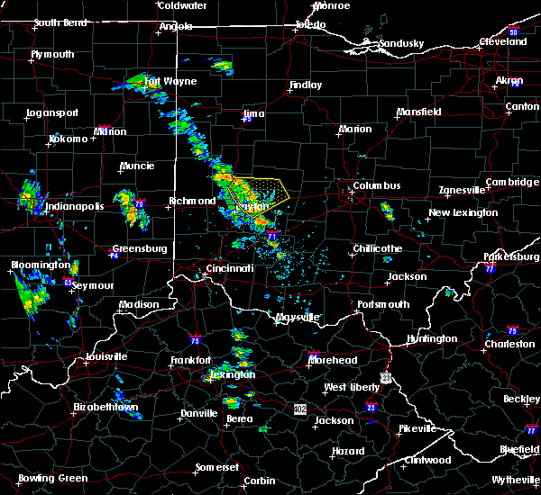 Radar Image for Severe Thunderstorms near St. Paris, OH at 6/9/2020 5:11 PM EDT