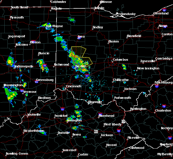 Radar Image for Severe Thunderstorms near St. Paris, OH at 6/9/2020 5:17 PM EDT