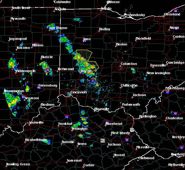 Radar Image for Severe Thunderstorms near St. Paris, OH at 6/9/2020 5:21 PM EDT