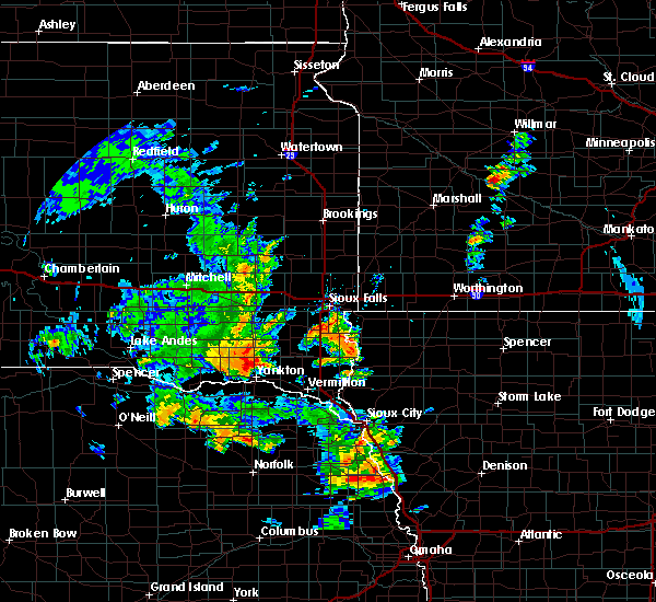Radar Image for Severe Thunderstorms near Viborg, SD at 6/9/2020 5:19 PM CDT