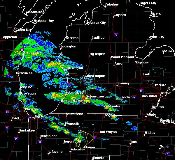 Radar Image for Severe Thunderstorms near Kalamazoo, MI at 6/9/2020 6:37 PM EDT