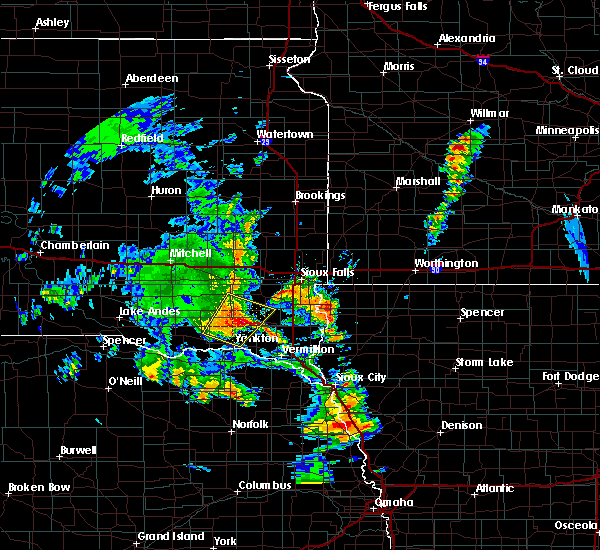Radar Image for Severe Thunderstorms near Viborg, SD at 6/9/2020 5:38 PM CDT