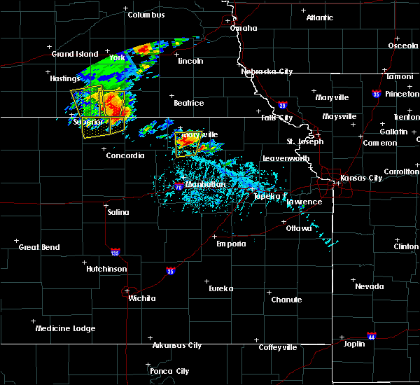 Radar Image for Severe Thunderstorms near Blue Rapids, KS at 6/9/2020 5:45 PM CDT