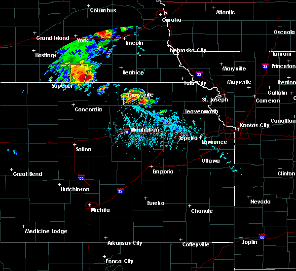 Radar Image for Severe Thunderstorms near Blue Rapids, KS at 6/9/2020 5:51 PM CDT