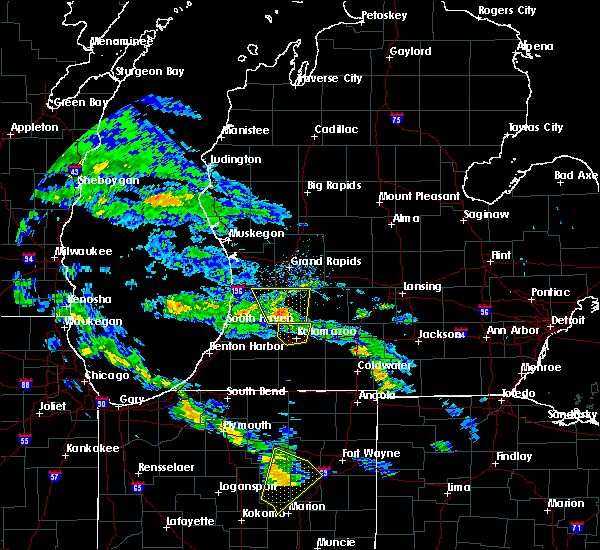 Radar Image for Severe Thunderstorms near Portage, MI at 6/9/2020 6:53 PM EDT
