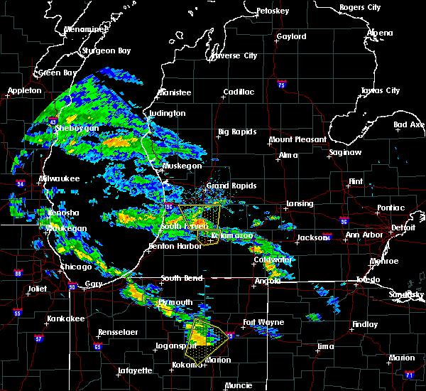 Radar Image for Severe Thunderstorms near Kalamazoo, MI at 6/9/2020 6:53 PM EDT