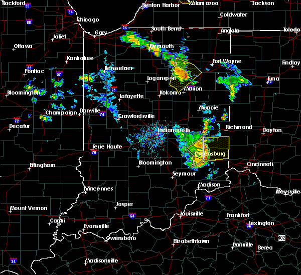 Radar Image for Severe Thunderstorms near Rushville, IN at 6/9/2020 6:55 PM EDT