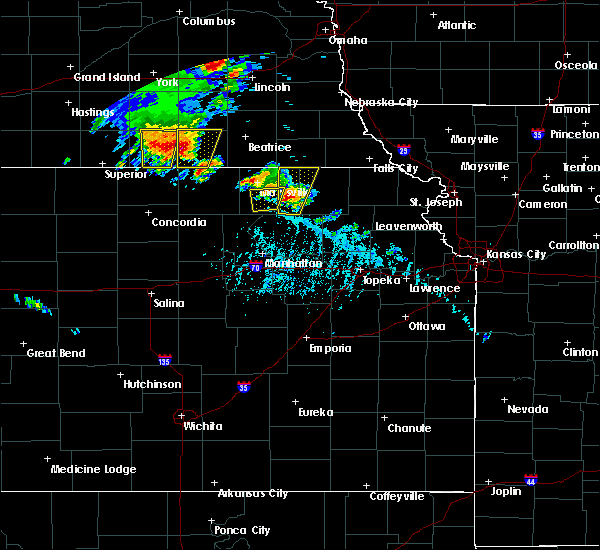 Radar Image for Severe Thunderstorms near Blue Rapids, KS at 6/9/2020 5:58 PM CDT
