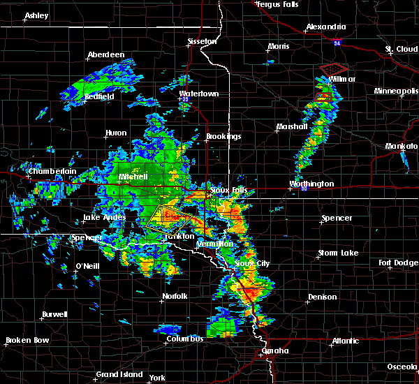 Radar Image for Severe Thunderstorms near Viborg, SD at 6/9/2020 5:59 PM CDT