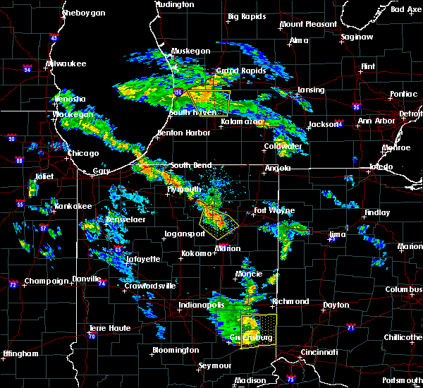 Radar Image for Severe Thunderstorms near Syracuse, IN at 6/9/2020 7:06 PM EDT
