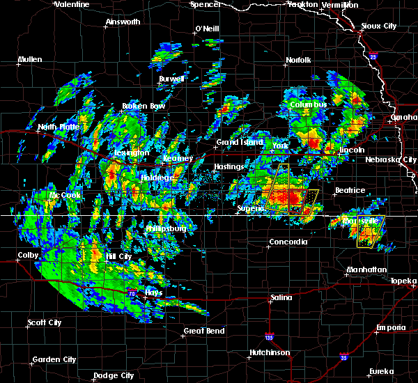 Radar Image for Severe Thunderstorms near Daykin, NE at 6/9/2020 6:10 PM CDT