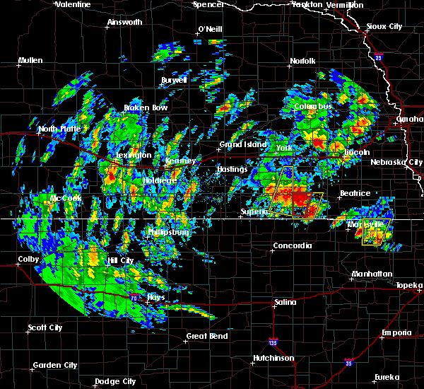 Radar Image for Severe Thunderstorms near Daykin, NE at 6/9/2020 6:13 PM CDT