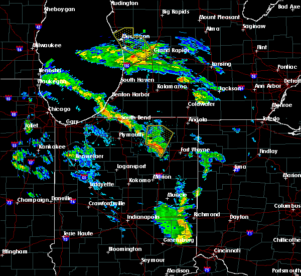 Radar Image for Severe Thunderstorms near Syracuse, IN at 6/9/2020 7:21 PM EDT
