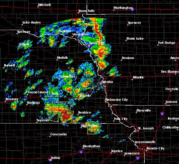Radar Image for Severe Thunderstorms near Dwight, NE at 6/9/2020 6:25 PM CDT