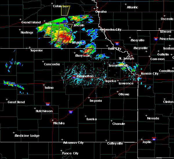 Radar Image for Severe Thunderstorms near Pawnee City, NE at 6/9/2020 6:45 PM CDT